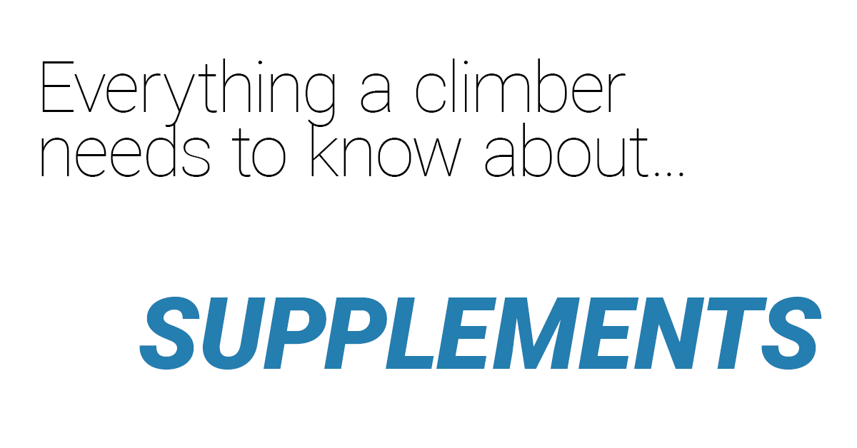 Complete supplement guides aimed at climbers
