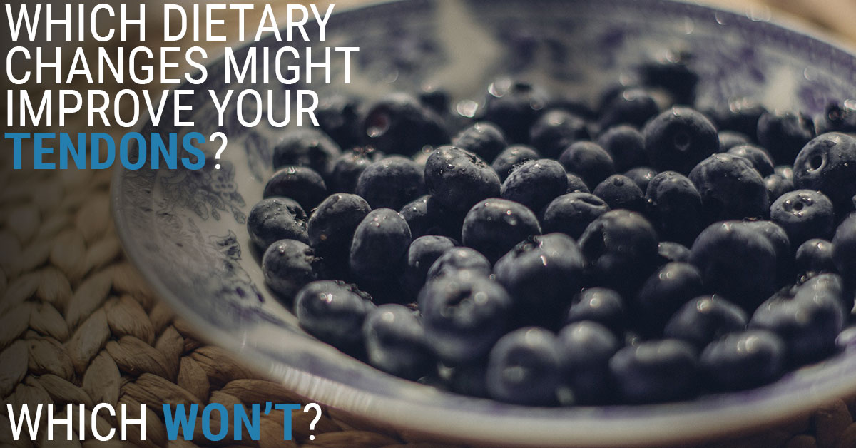 Which dietary changes do and don't work for tendon health?