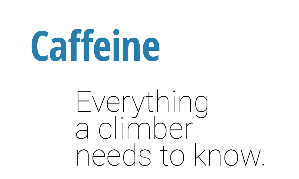 Climbing Nutrition Supplement Guide for Caffeine