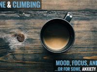 How does caffeine affect climbing?