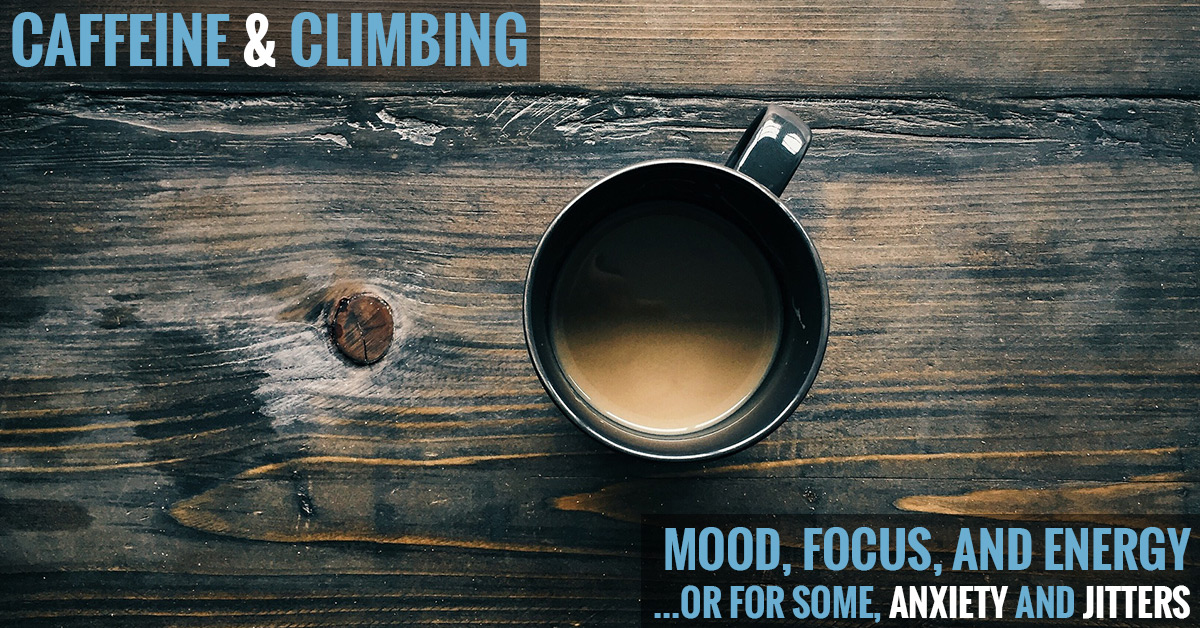 How does caffeine affect climbing?