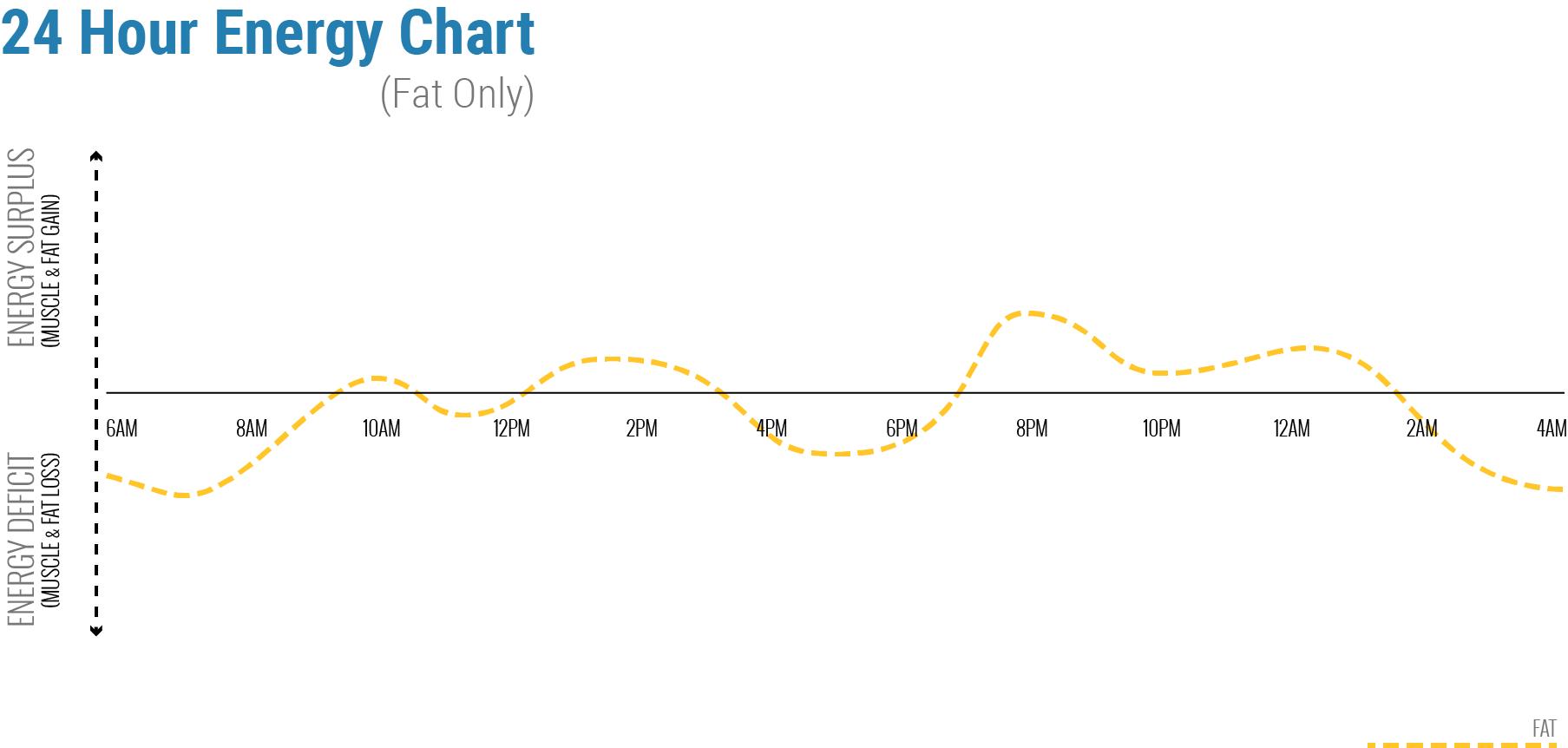 24 Hour Fat Intake Chart