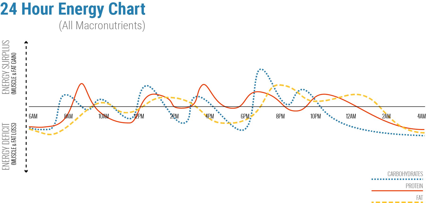 24 Hour Macronutrient Intake Chart