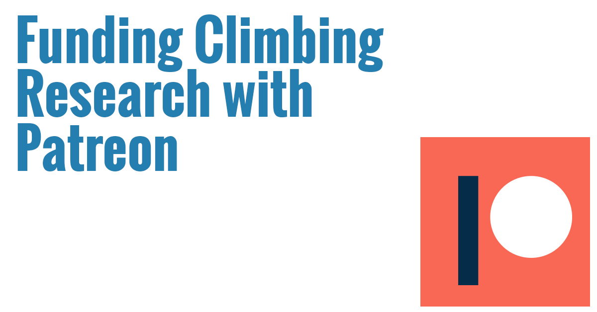 Help fund climbing research with Patreon!