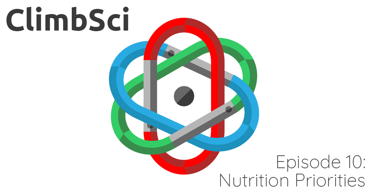 ClimbSci Episode 10: Climbing Nutrition Priorities